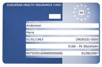 eu kort försäkringskassan